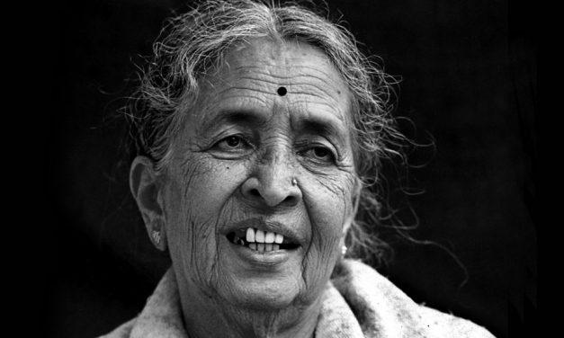 ಎ.ಎನ್. ಮುಕುಂದ ತೆಗೆದ ಎಂ.ಕೆ. ಇಂದಿರಾ ಅವರ ಚಿತ್ರ.