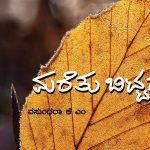 ವಸುಂಧರಾ ಅವರ ಏಕಾಂತ ಗೀತೆಗಳು:ಕೆ.ವೈ ನಾರಾಯಣಸ್ವಾಮಿ ಬರೆದ ಮುನ್ನುಡಿ
